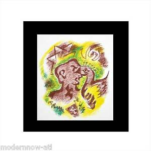 Andre-MASSON-Lithograph-LIMITED-Ed-55-100-ARCHES-Cat-Ref-C97-Custom-FRAMING