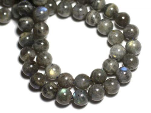Labradorite Boules 4mm Perles de Pierre Fil 39cm 86pc env