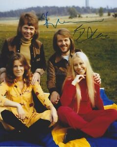 Bjorn-Ulvaeus-amp-Benny-Andersson-ABBA-HAND-SIGNED-8x10-Photo-Autograph-B