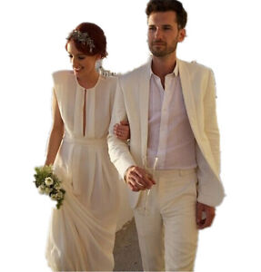 Image Is Loading Groom Tuxedo Suit Men Beach Wedding Champagne