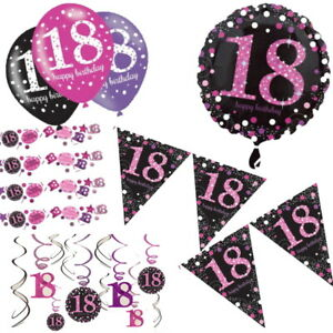 Decorations and Balloons 50th Pink Sparkling Celebration Birthday Age Tableware