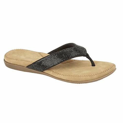 Cipriata Alcee Ladies L672 Black Diamante FlipFlop Sandal With Cushioned Insoles