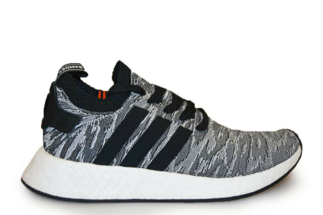 Mens Adidas NMD R2 PK - BY9409 - Core Black Trainers