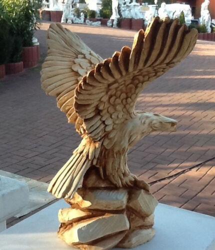 Steinguss,Vögel Gartendeko Tierfiguren Gartenfiguren Adlerfigur 28,5 cm Adler