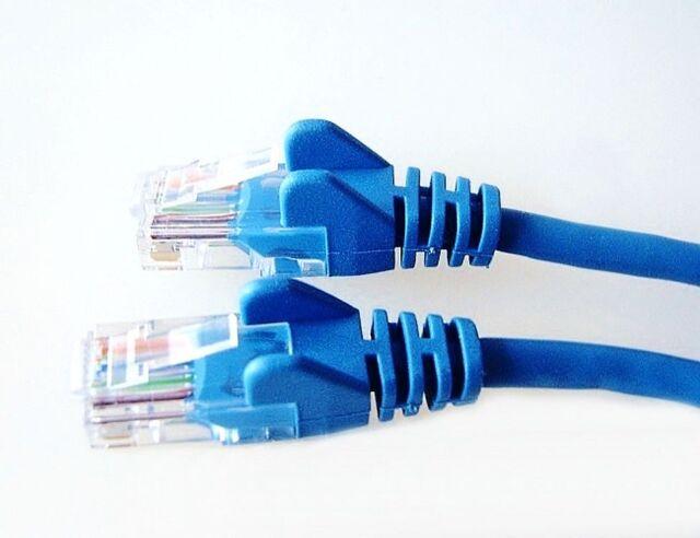 2m Patch-Kabel RJ-45 blau Netzwerk-Kabel 2,0 m LAN DSL Ethernet CAT-5e 2