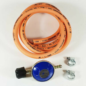 BBQ-Cooker-Camping-Gaz-Regulator-Gas-Hose-Kit-Clips-Heater-2M-Hose-Kit