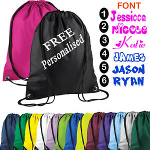 Kids Boys Children School PE Shoes Bag Sports Gym Trainers Pumps Backpack String