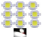 10pc 10W Cool White LED Chips High Power Flood light Lamp SMD Chip DC 9-12V Hot