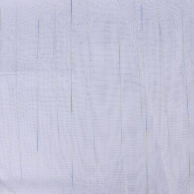 Gardinenstoff Stores Webstreifen transparent Bleiband weiß blau grün 260 hoch