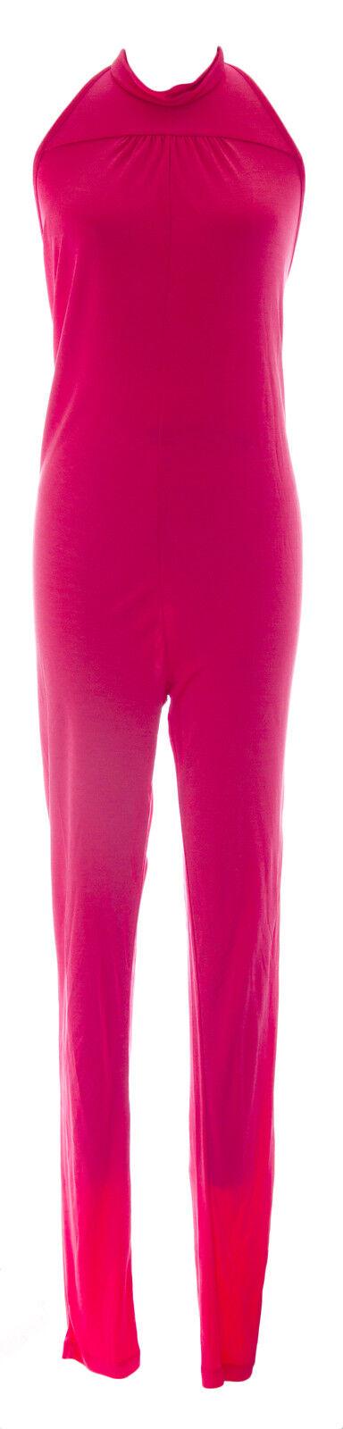 DIESEL Women's Hot Pink Jopy Tuta Halter Jumpsuit C8NI NEW