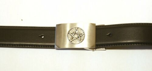 Five Pointed Star Buckle and Belt Set Black Leather Ideal Mythical Gift 131