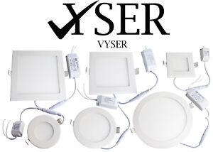 LED-Iluminacion-Empotrada-Panel-De-Techo-Down-Light-Ultradelgado-Redondo-Cuadrado-Spotlight