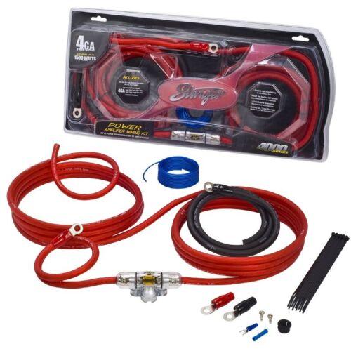 Stinger SK4241 Car Audio Power Kit de cableado 4 Calibrador de cobre de 100/%