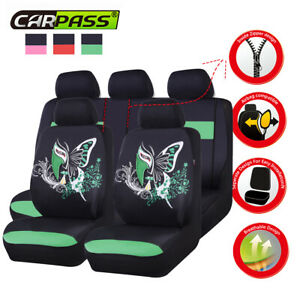 Universal-Car-Seat-Cover-China-Face-Unique-Green-Fit-Split-Rear-Airbag-For-TRUCK