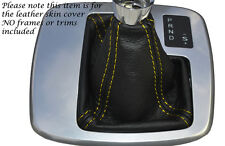 YELLOW STITCH AUTO AUTOMATIC LEATHER GEAR GAITER FITS FORD MONDEO MK4 IV 07-14