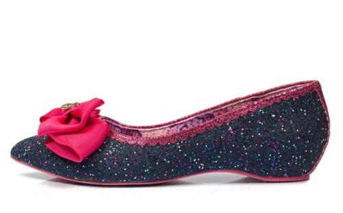 Irregular Choice NEW Mint Slice navy blue glitter pink women/'s ballet shoes 4-9