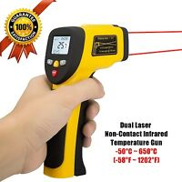 Lurico Dual Laser Non-contact Surface Temperature Gun Digital Infrared Thermo...