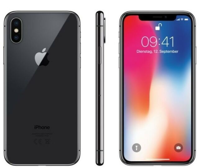"""Apple iPhone X Space Grey, 64GB - 3GB, Display 5.8"""", Official Warranty, NO BRAND"""
