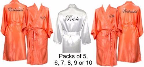 Bridal kamerjassen gewaden bruiloft Coral Gepersonaliseerde in moeder Meerdere pack wBfaC7q