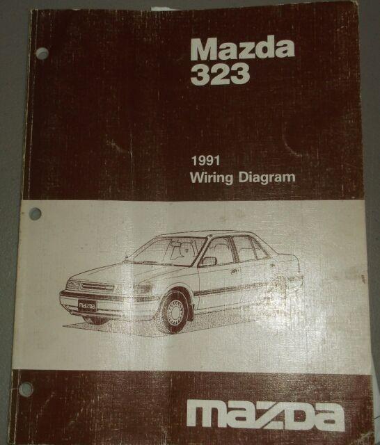 1991 Mazda 323 Wiring Diagram Manual Shop Repair