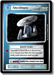 STAR-TREK-CCG-1E-ALTERNATE-UNIVERSE-ULTRA-RARE-FUTURE-ENTERPRISE-MINT