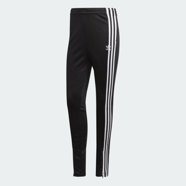 Women's Adidas Originals 3-Stripes Track Pants Black/White [z] DH2719