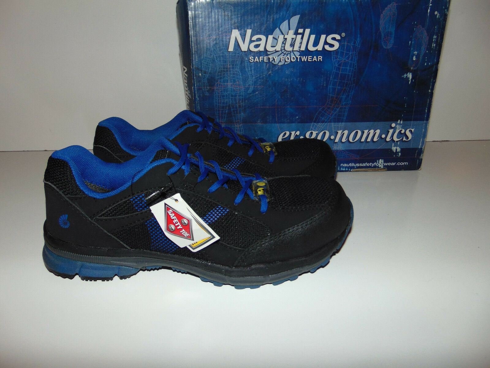 62fef3ca6a8 Nautilus Men s Blue Athletic Work Shoes Shoes Shoes - STEEL Toe - N1731 ALL  SIZES     f818dd