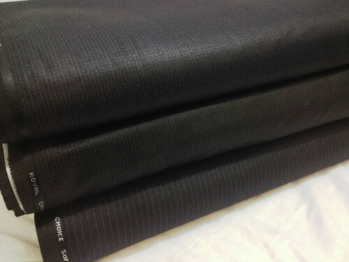 Top Quality English Soft Twill Pinstriped Wool Blend  Coat//Suiting Fabric*NEW*