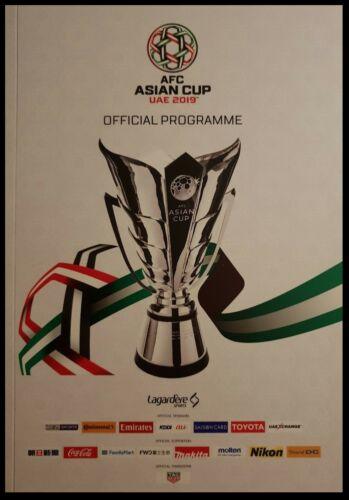 Japan Iran Australia Katar China off Programm AFC Asian Cup UAE 2019 incl