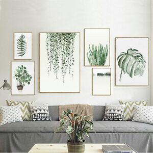 Unframed-Tropical-Plant-Leaf-Prints-Art-Canvas-Poster-Modern-Wall-Home-Decor