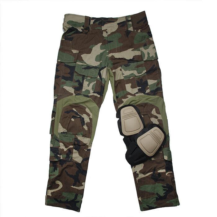 TMC2901-WL al aire libre caza táctico Org de corte G3 Combate Pantalones Con Rodillera
