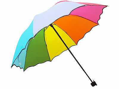 3 FOLD MANUAL OPEN UMBRELLA FOR LADIES GIRLS FOR SUMMER & RAINY SEASON