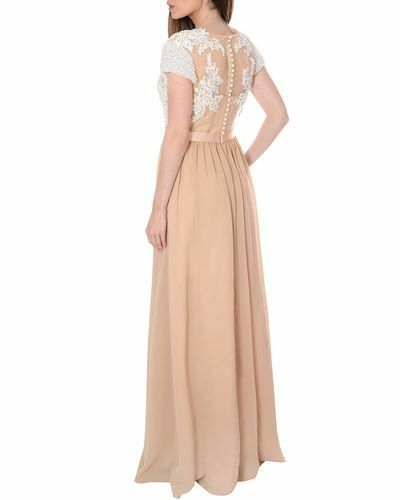 True Decadence Women's Natural Natural Natural Lace Embellished Maxi Dress SIZES 8,14 RRP.00 aa5074