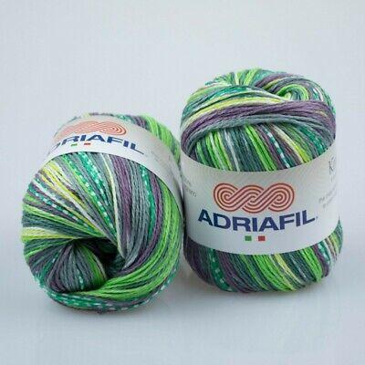 50g KIMERA ADRIAFIL ägyptische 100/% Baumwolle Farbverlauf VEGAN Cotton BATIK 22