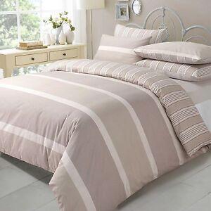 Duvet-Cover-amp-Pillow-Case-Bedding-Pollycotton-Set-NATURAL-EVE-SUPER-KING