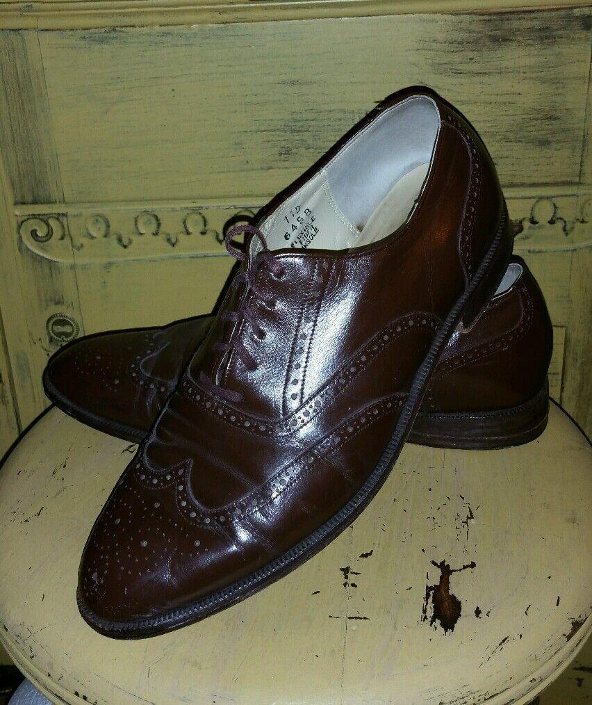 negozio all'ingrosso VINTAGE RARE JOHN WEITZ Marrone LEATHER WING TIP TIP TIP OXFORD DRESS scarpe WINGTIPS 11 M  basta comprarlo
