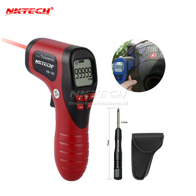 NKTECH NK-300 LCD Digital Laser Tachometer Non Contact Measure 2.5-99999RPM Red
