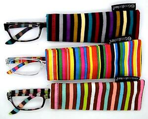 Eyeglasses-Reading-Trendy-goodlookers-Multi-Stripe-with-Sheath