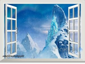 Image Is Loading Disney Frozen Elsa Snowflake Ice Castle Palace Wall