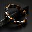 thumbnail 9 - Double Hematite Tiger's Eye Natural Bracelets Men Women Charm Bracelets Jewelry