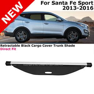 For Hyundai Santa Fe Sport 13 16 Retractable Black Cargo