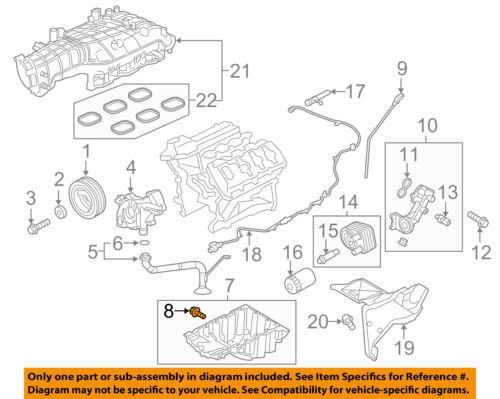 FORD OEM-Engine Oil Drain Plug KX6Z6730B