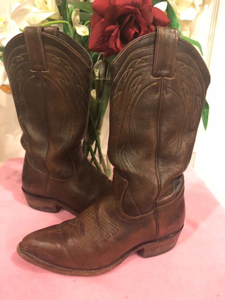 Frye 77689 BROWN Billy Leather Boot  SIZE 7B (bot1300