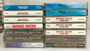 Lot-of-14-MICHEAL-BOLTON-Cassette-Tapes-Timeless-Soul-Provider-Early-Years