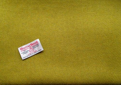 Harris Tweed material de tela verde ácido llano desde £ 7.95 más etiquetas