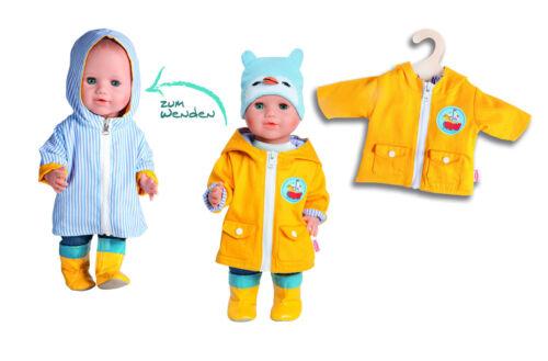 maritimer Wendeanorak Heless Puppenkleidung Regenjacke 2 Größen Puppenjacke