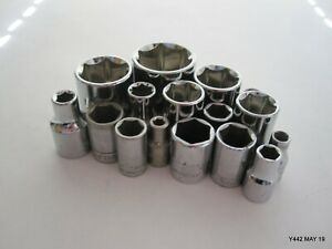 Mixed-Lot-of-6-Point-Craftsman-Sockets