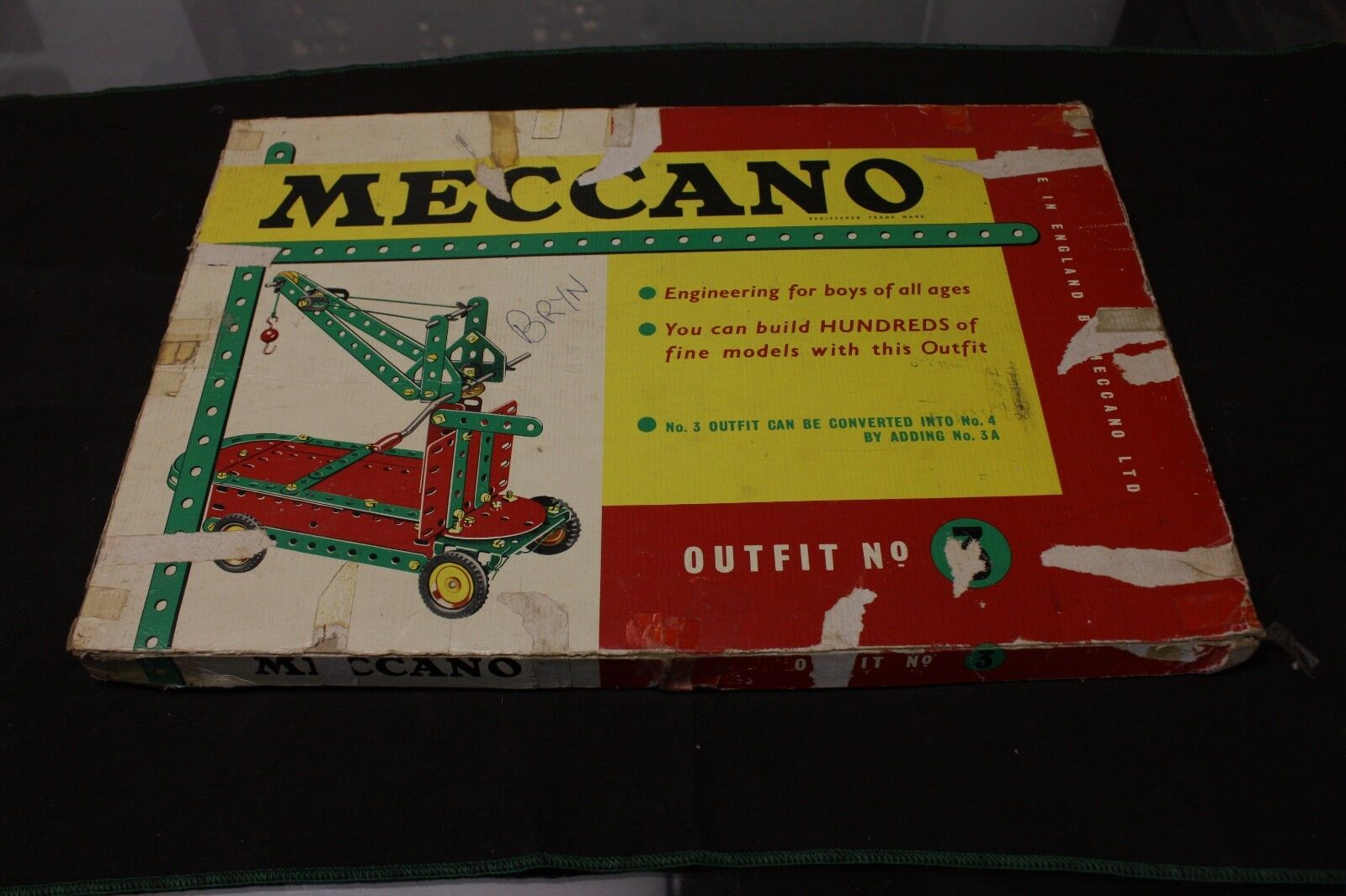 Vintage meccano outfit no 3 missing parts