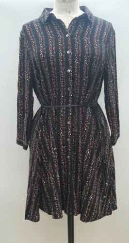 Hush Cotton Tea 10 Swing Boho Dress Star Black ry7wZTvrq