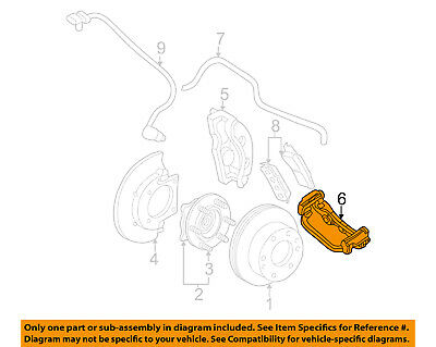 GM OEM Brake-Rear-Anchor Plate 22775567